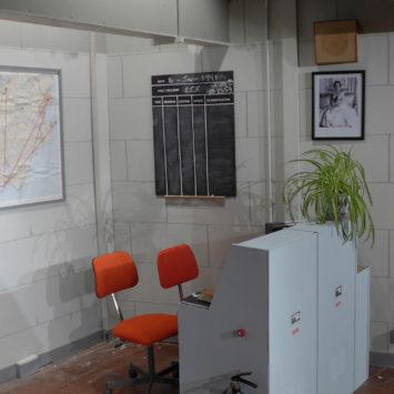 Corner of set for Bunkered by Lynn Brittney